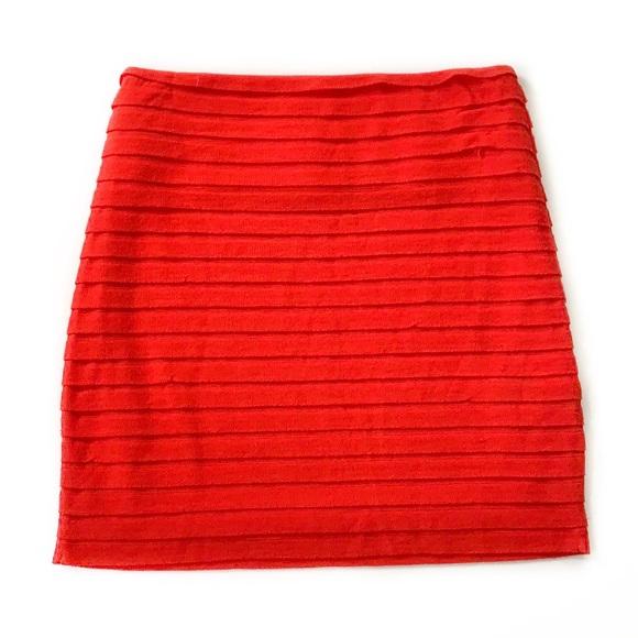 BCBGeneration Dresses & Skirts - BCBGeneration • Knit Ruffle Mini Skirt